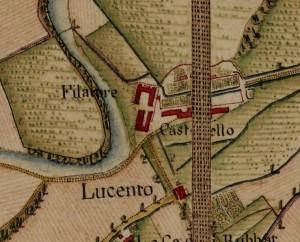 Castello di Lucento. Carta Topografica della Caccia, 1760-1766 circa, ©Archivio di Stato di Torino