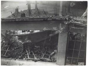 FIAT Lingotto Via Nizza (?). Effetti prodotti dai bombardamenti dell'incursione aerea dell'8-9 dicembre 1942. UPA 2845D_9D02-08. © Archivio Storico della Città di Torino