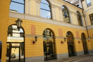 Cortile interno del Palazzo Pallavicino Mossi, già Caisotti di Casalgrasso. Fotografia di Edoardo Vigo, 2012.