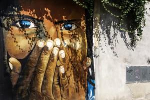 Gianluca Nibbi, murale senza titolo, 2000, via Rivara 36, MAU Museo Arte Urbana. Fotografia di Roberto Cortese, 2017 © Archivio Storico della Città di Torino