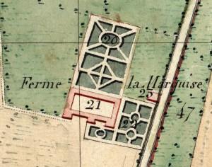 Cascina La Marchesa, già La Florita. Catasto Napoleonico, 1805. © Archivio di Stato di Torino