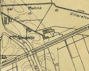 Cascina Spinetta, già Taschero. Pianta di Torino, 1935. © Archivio Storico della Città di Torino