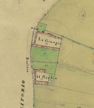 Cascina Grangia Scott. Catasto Gatti, 1820-1830.  © Archivio Storico della Città di Torino