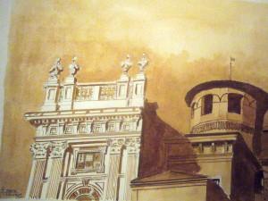 Alfredo Negro, Palazzo Madama, 2014, acquerello