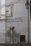 Tracce del loggiato della manica orientale sul prospetto dell'Archivio di Stato. Fotografia di Enrico Lusso per MuseoTorino.