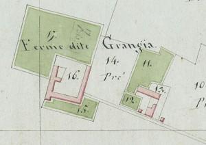 Cascina La Grangia, Grange. Mappa primitiva Napoleonica, 1805. © Archivio Storico della Città di Torino