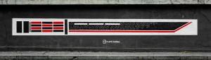 on.art.torino, murale senza titolo, 2018, cavalcavia di corso Bramante. Fotografia di Roberto Cortese, 2018 © Archivio Storico della Città di Torino