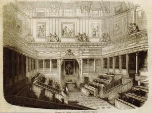Carlo Chiappori, L'aula del Senato nel 1848, da