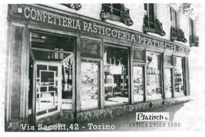 Confetteria Pasticceria Pfatisch, 1926-1930 (riproduzione da libro L. Artusio, M. Bocca, M. Governato, 2005, p. 95, n. 174)