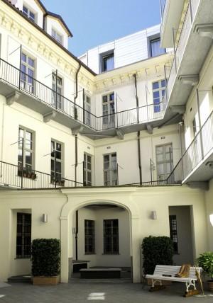 Casa Siccardi, cortile. Fotografia 2016 © Biblioteche civiche torinesi