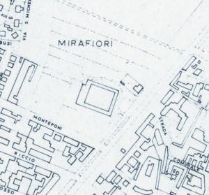 Cascina La Grangia, già Lagrange. Istituto Geografico Militare, Pianta di Torino, 1974. © Archivio Storico della Città di Torino