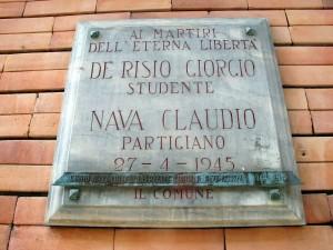 Lapide dedicata a De Risio Giorgio, Nava Claudio
