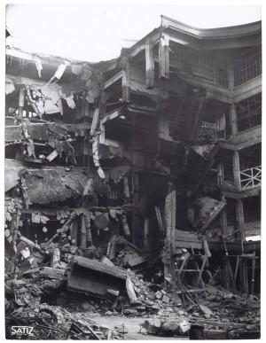 Via Nizza. Stabilimento FIAT Lingotto. Effetti prodotti dai bombardamenti dell'incursione aerea del 30 novembre 1942. UPA 2467_9C03-26. © Archivio Storico della Città di Torino