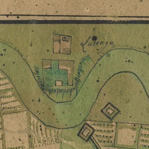 Castello di Lucento. Carta dell'assedio di Torino, 1706. © Archivio Storico della Città di Torino