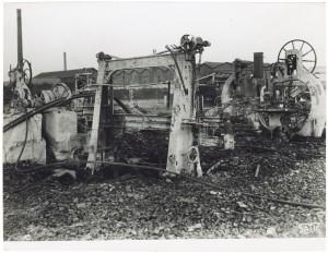 Via Rivalta 61. Stabilimento FIAT - Sezione Materiale Ferroviario. Effetti prodotti dal bombardamento dell'incursione aerea del 20-21 novembre 1942. UPA 2065_9B05-27. © Archivio Storico della Città di Torino