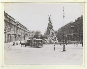 Luigi Belli, Monumento al traforo del Frejus, 1879. Fotografia Brogi. © Archivio Storico della Città di Torino