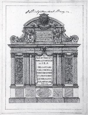 Carlo Morello. Frontespizio de Avvertimenti sopra le fortezze di S. R. A., 1656. © Biblioteca Reale di Torino.