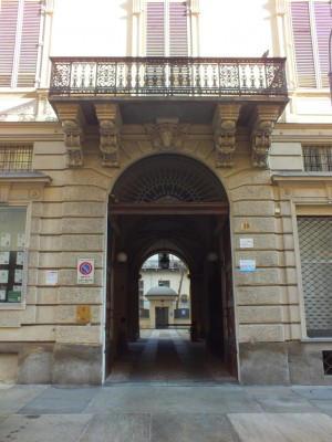Palazzo Galleani di Canelli e Barbaresco, in via Alfieri 18, portale. Fotografia di Paola Boccalatte, 2014. © MuseoTorino