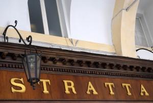 Stratta Confetteria, particolare dell'insegna, 2016 © Archivio Storico della Città di Torino