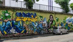 Artisti vari, murales senza titolo, Festival PicTurin 2010, muri del cavalcavia di corso Bramante