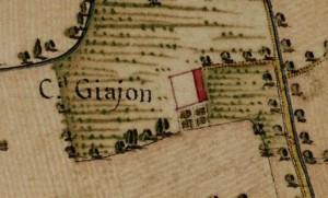 Cascina Giajone. Carta Topografica della Caccia, 1760-1766 circa, © Archivio di Stato di Torino.