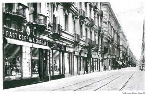 A. Giordano Pasticceria-Confetteria, 1915-1920 (riproduzione da libro L. Artusio, M. Bocca, M. Governato, 2005, p. 98, n. 179)