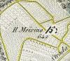 Cascina Meisino, già Cascina Bracco. Antonio Rabbini , Topografia della Città e Territorio di Torino, 1840. © Archivio Storico della Città di Torino