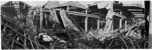 Via Cigna 115. Stabilimento FIAT, Sezione Ind. Metallurgiche (S.I.M.A.). Effetti prodotti dai bombardamenti dell'incursione aerea del 29-30 novembre 1942. UPA 2453_9F02-24. © Archivio Storico della Città di Torino