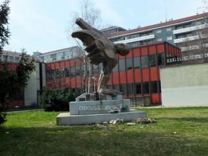 Monumento ai caduti sul lavoro, Biblioteca Luigi Carluccio. Fotografia di Paola Boccalatte, 2014. © MuseoTorino