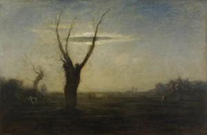 Antonio Fontanesi Reggio Emilia (1818 – 1882), Aprile, 1872-1873, olio su tela cm 171x254,8. GAM Galleria d'Arte Moderna di Torino, inv. P/410