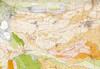 Insieme e stralcio della carta geo-morfologica dell'anfiteatro morenico di Rivoli-Avigliana (Prov. Torino) e del suo substrato cristallino (2). Fotografia di Franco Petrucci et al.,  1969.