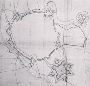 Pietro Arduzzi. Rilievo delle fortificazioni di Asti [1640]. © Biblioteca Reale di Torino.