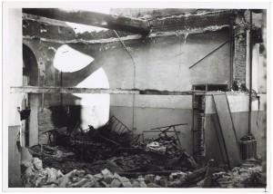 Ospedale Oftalmico. Effetti prodotti dai bombardamenti dell'incursione aerea del 9 dicembre 1942. Lato Via Bertola. UPA 3084D_9D03-41. © Archivio Storico della Città di Torino