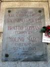 Lapide dedicata a Bratto Tommaso, D'Agostino Archimede, Molino Marco