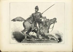 Alfonso Balzico, Monumento a Ferdinando di Savoia duca di Genova, 1877, litografia. © Archivio Storico della Città di Torino.