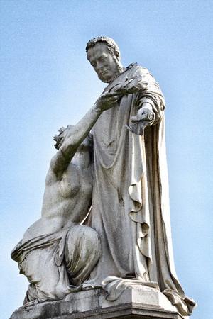 Giovanni Duprè, Monumento a Camillo Benso Conte di Cavour (particolare del gruppo scultoreo principale), 1865-73. Fotografia di Mattia Boero, 2010. © MuseoTorino.