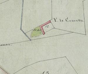 Cascina Cravetta. Mappa primitiva Napoleonica, 1805. © Archivio Storico della Città di Torino