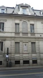 Targa dedicata a Vittorio Avondo (1836-1910)