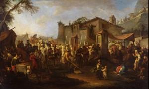 Pietro Domenico Olivero (1679-1755), Processione al sacro pilone, XVIII secolo, olio su tela, cm 120,5x74,5. Torino, Museo Civico d'Arte Antica e Palazzo Madama, inv. 0634/D