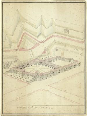 Regio Arsenale, prospettiva. © Archivio Storico della Città di Torino
