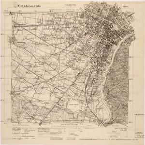 L'area dell'aeroporto nel 1923 (Istituto Geografico Militare di Firenze).