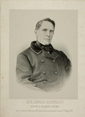 Angelo Brofferio (Castelnuovo Calcea 6 dicembre 1802 - Minusio 25 maggio 1866)