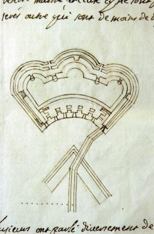 Pianta del Pastiss di Louis Guibert in Archivio di Stato di Torino, Intendenza Generale delle Fabbriche e Fortificazioni, Mazzo III.© Archivio di Stato di Torino