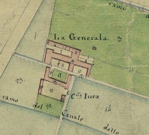 Cascina Generala. Catasto Gatti, 1820-1830. © Archivio Storico della Città di Torino