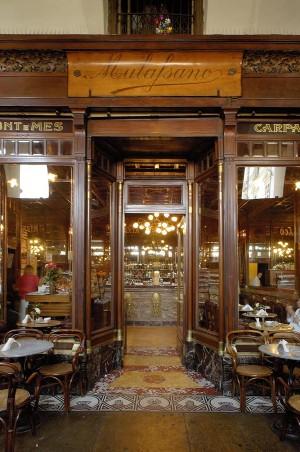 Caffè Mulassano, particolare dell'esterno, Fotografia di Marco Corongi, 2005 ©Politecnico di Torino