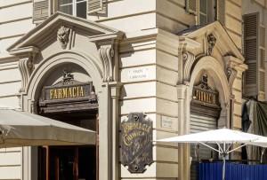 Farmacia del Cambio, ex Farmacia Bestente già Operti, esterno, 2017 © Archivio Storico della Città di Torino