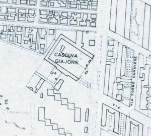 Cascina Giajone. Istituto Geografico Militare, Pianta di Torino, 1974. © Archivio Storico della Città di Torino
