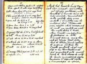Diario dell'Istituto Lorenzo Prinotti, 1940. ASCT, Fondo Prinotti cart. 31 fasc. 11, 9, pp. 89-90. © Archivio Storico della Città di Torino