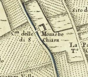 Cascina Borello. Amedeo Grossi, Carta Corografica dimostrativa del territorio della Città di Torino, 1791. © Archivio Storico della Città di Torino