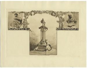 Pietro Costa, Monumento a Vittorio Emanuele II, 1882-1899. Litografia, 9 settembre 1899. © Archivio Storico della Città di Torino.